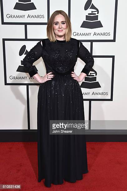 Singer Adele attends The 58th GRAMMY Awards at Staples Center on February 15 2016 in Los Angeles California
