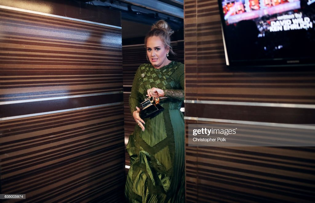 Singer Adele attends The 59th GRAMMY Awards at STAPLES Center on February 12, 2017 in Los Angeles, California.