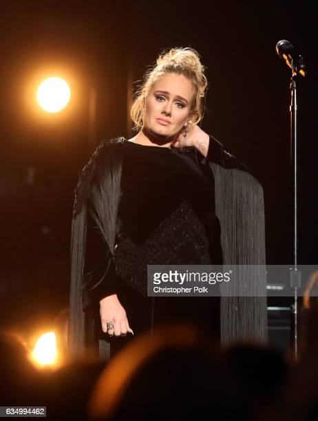 Singer Adele during The 59th GRAMMY Awards at STAPLES Center on February 12 2017 in Los Angeles California