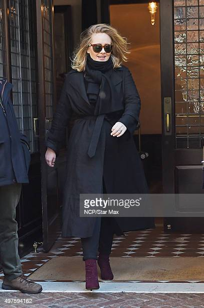 Singer Adele is seen on November 17 2015 in New York City