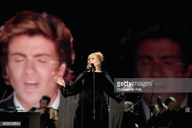 Singer Adele performs during The 59th GRAMMY Awards at STAPLES Center on February 12 2017 in Los Angeles California
