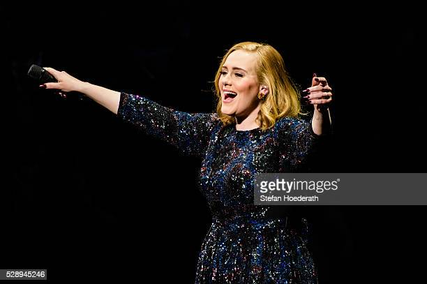 Singer Adele performs live on stage during a concert at MercedesBenz Arena on May 07 2016 in Berlin Germany