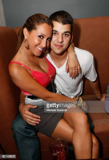 Singer Adrienne Bailon and male model Robert Kardashian attend the 'Maxim Celebrates the Biggest Event in Extreme Sports' at the Stork on July 31...