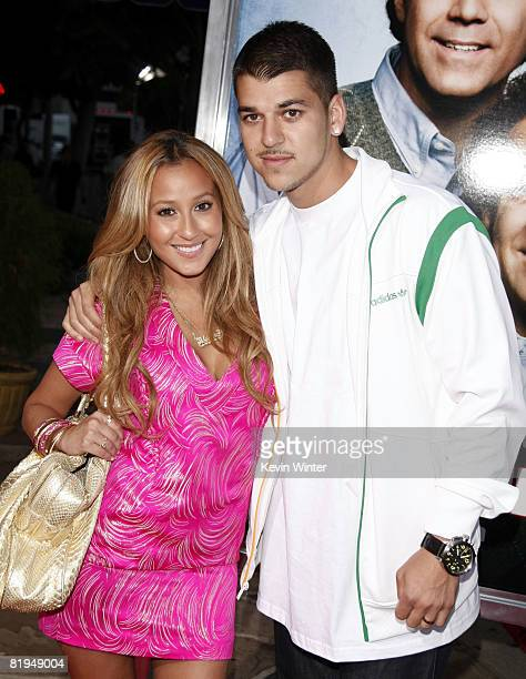 Singer Adrienne Bailon and Rob Kardashian arrive at the premiere of Sony Picture's 'Step Brothers' at the Village Theater on July 15 2008 in Los...