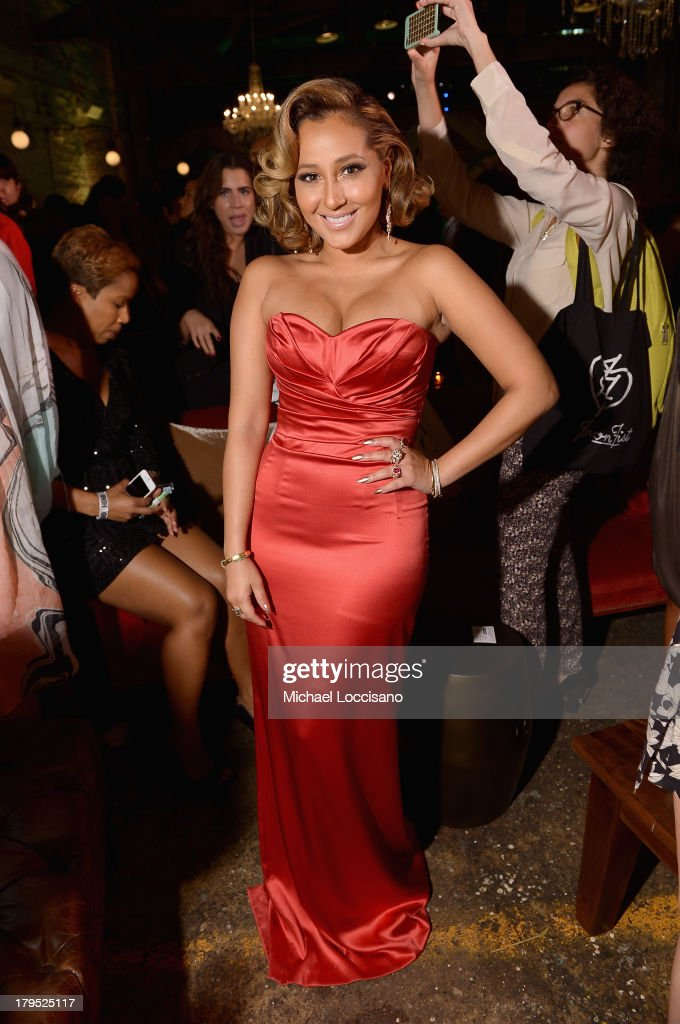 Singer <a gi-track='captionPersonalityLinkClicked' href=/galleries/search?phrase=Adrienne+Bailon&family=editorial&specificpeople=540286 ng-click='$event.stopPropagation()'>Adrienne Bailon</a> attends the HBO Boardwalk Empire Fashion Fete with June Ambrose at Houston Hall on September 4, 2013 in New York City.