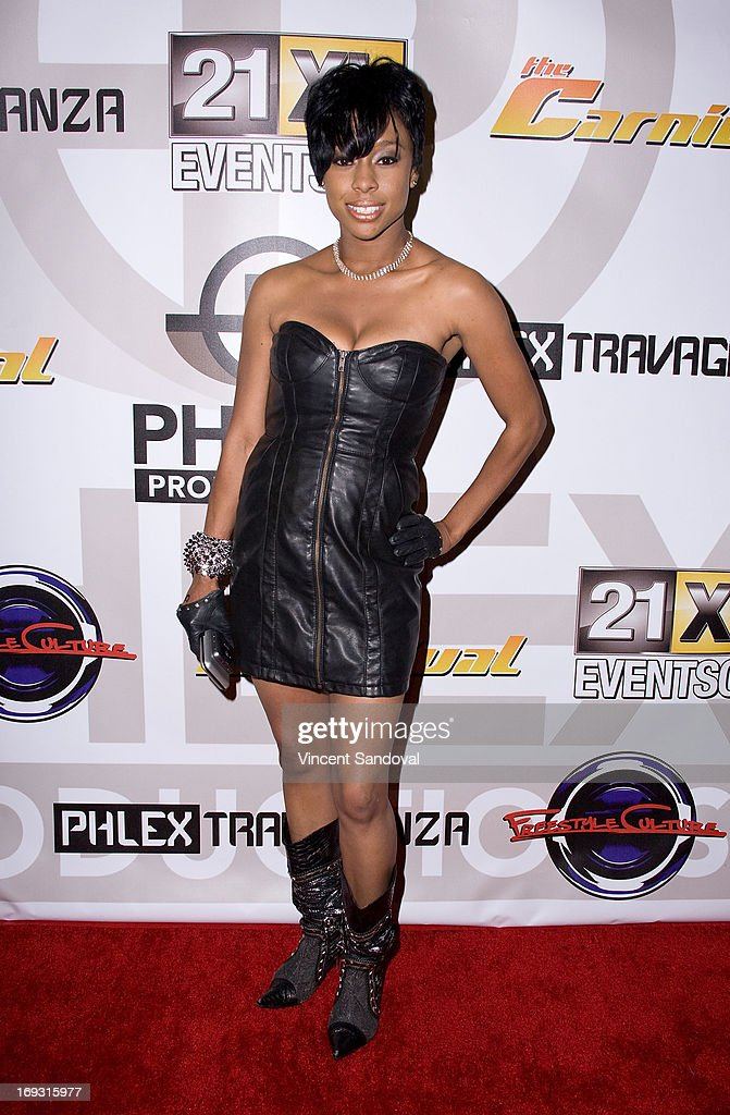 Singer Adrienne Mariya attends PHLEXtravaganza at Level 3 club in Hollywood & Highland Center on May 22, 2013 in Hollywood, California.