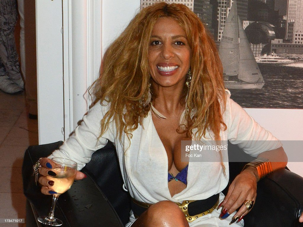 Singer Afida Turner from 'Loft2' and 'Carre VIP' attends the 14th July White Party at the Pierre Guillermo residence on July 14, 2013 in Paris, France.