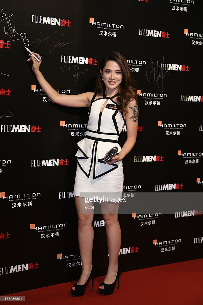 Singer Ai Fei attends Hamilton Behind The Camera Awards at Himalayas Hotel on August 22 2013 in Shanghai China