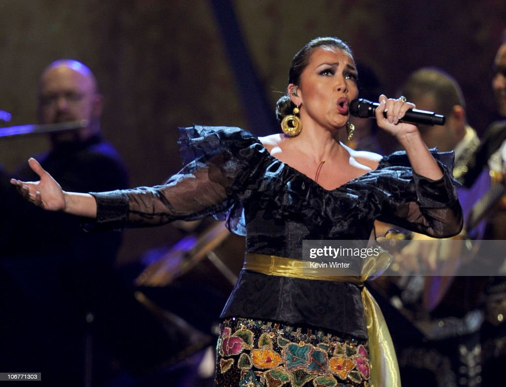 Singer Aida Cuevas performs onstage during the 11th annual Latin GRAMMY Awards at the Mandalay Bay Events Center on November 11, 2010 in Las Vegas, Nevada.