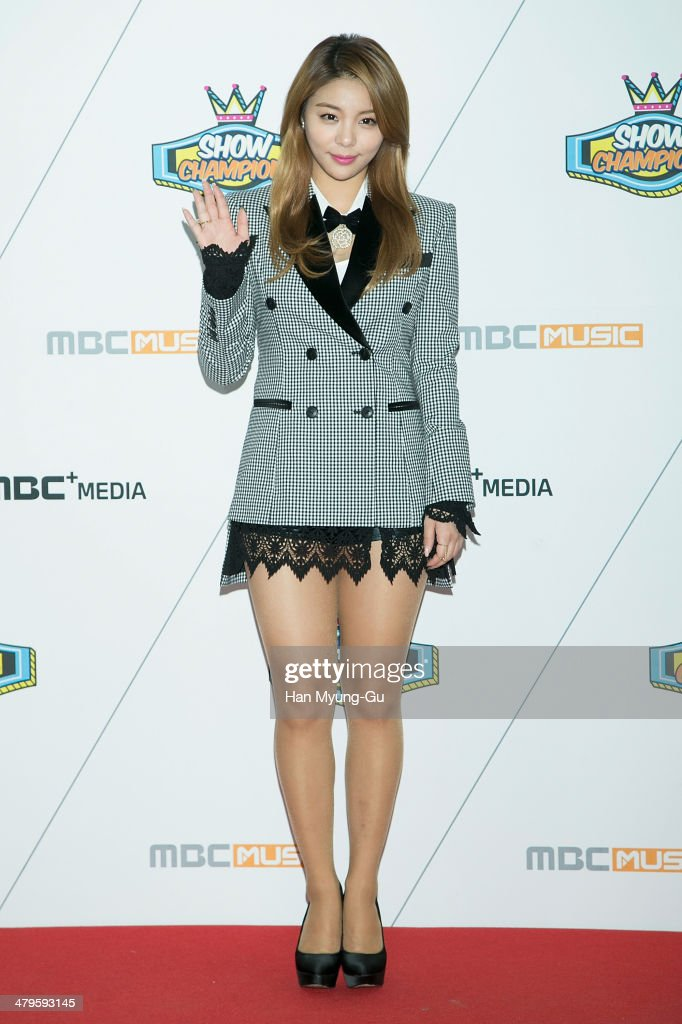 Singer Ailee attends MBC Music 'Show Champion' on March 19, 2014 in Ilsan, South Korea.