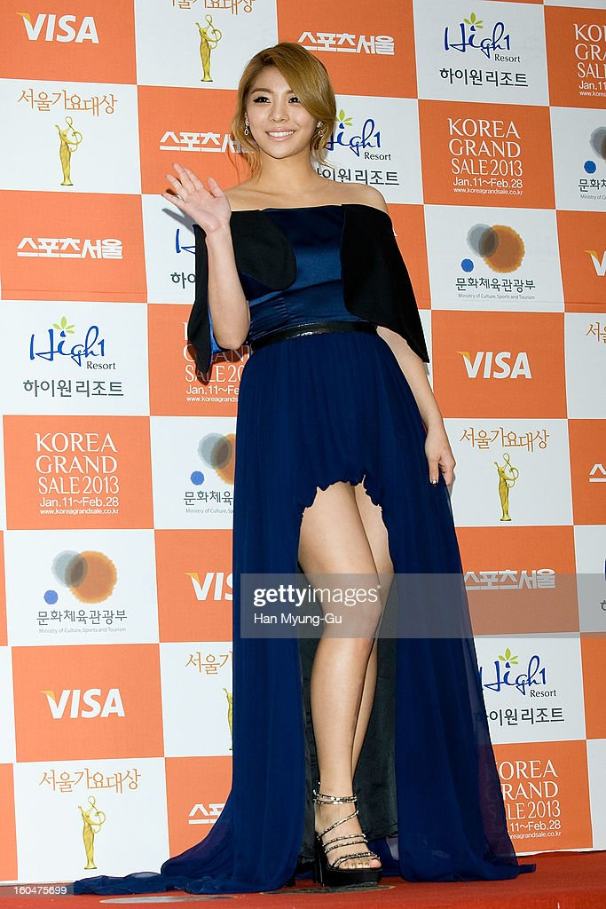 Singer Ailee attends the 22nd High1 Seoul Music Awards at SK Handball Arena on January 31, 2013 in Seoul, South Korea.