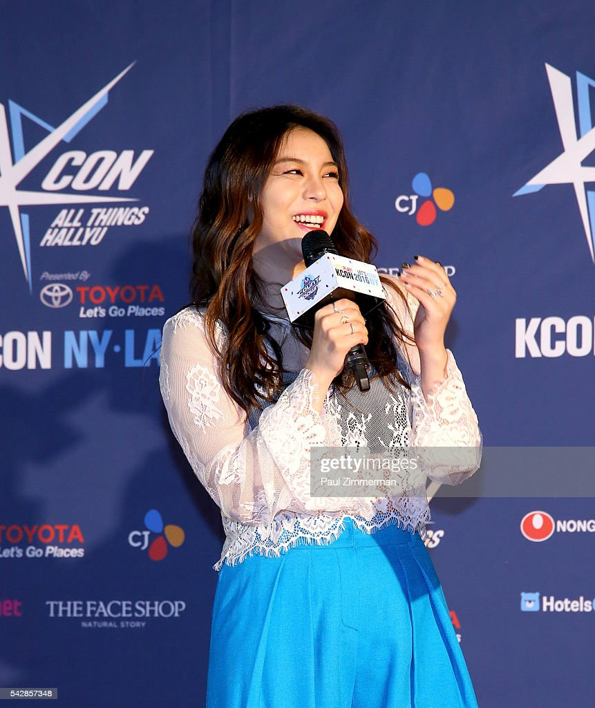 Singer Ailee attends the KCON 2016 at the Prudential Center on June 24, 2016 in Newark, New Jersey.