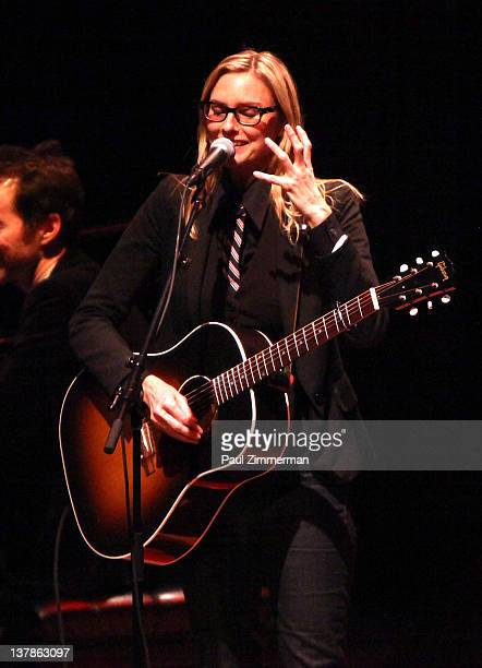 Singer Aimee Mann performs at Carnegie Hall on January 28 2012 in New York City