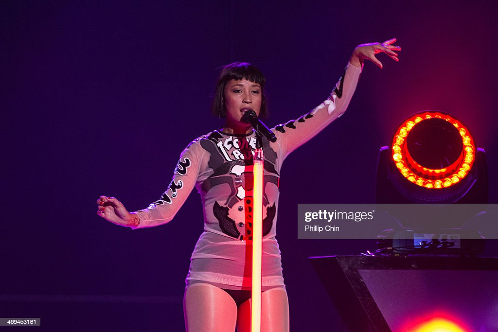 Singer Aino Jawo of Icona Pop opens for Miley Cyrus 'Bangerz Tour' tour opener at Pepsi Live at Rogers Arena on February 14, 2014 in Vancouver, Canada.