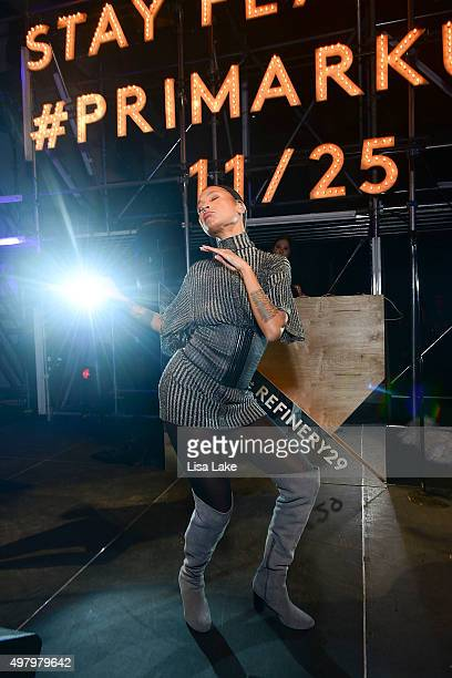 Singer Aino Jawo of Icona Pop performs at The Keke Palmer Refinery29 Host Club Primania Event at Skybox Event Center on November 19 2015 in...