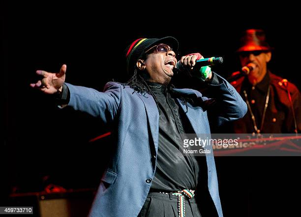 Singer AJ Brown of Third World performs during The Wailers 30th Anniversary Performance at The Apollo Theater on November 29 2014 in New York City