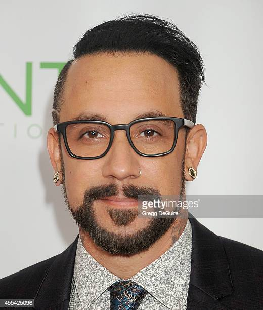 Singer AJ McLean arrives at Point Foundation's Annual 'Voices On Point' Fundraising Gala at the Hyatt Regency Century Plaza on September 13 2014 in...