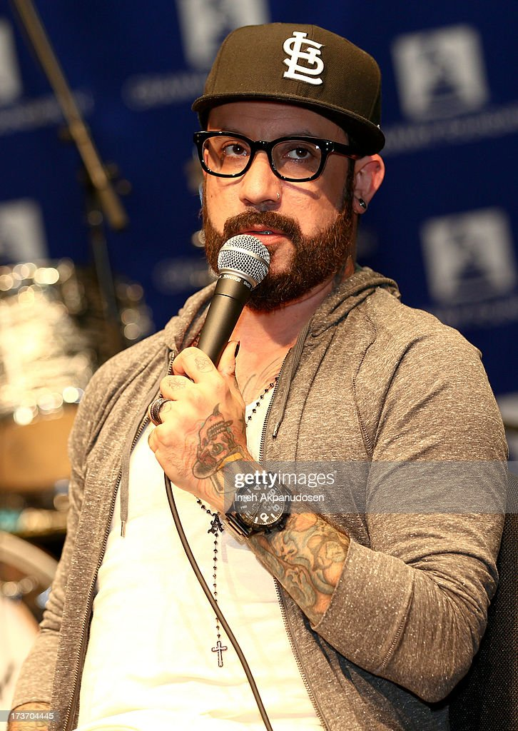 Singer A.J. McLean attends speaks onstage at the 9th Annual GRAMMY Camp at University of Southern California on July 16, 2013 in Los Angeles, California.