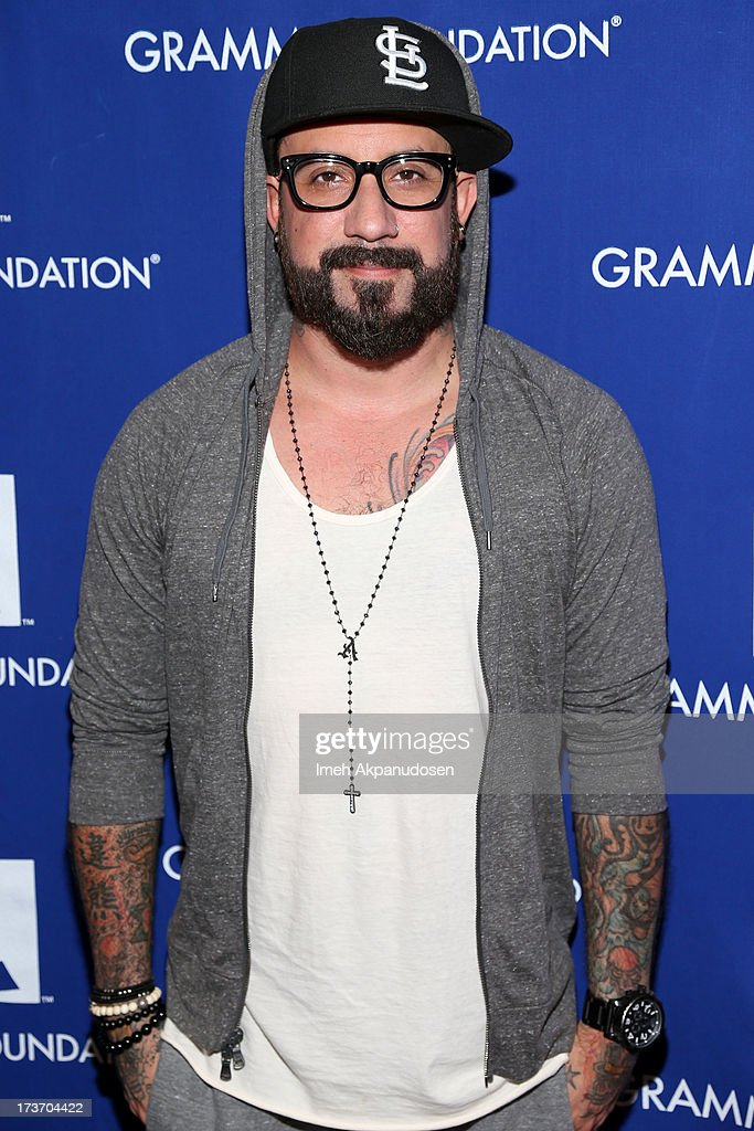 Singer A.J. McLean attends the 9th Annual GRAMMY Camp at University of Southern California on July 16, 2013 in Los Angeles, California.
