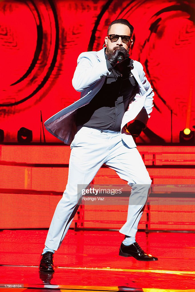 Singer <a gi-track='captionPersonalityLinkClicked' href=/galleries/search?phrase=AJ+McLean&family=editorial&specificpeople=208803 ng-click='$event.stopPropagation()'>AJ McLean</a> of Backstreet Boys performs at Backstreet Boys In Concert at Gibson Amphitheatre on September 4, 2013 in Universal City, California.