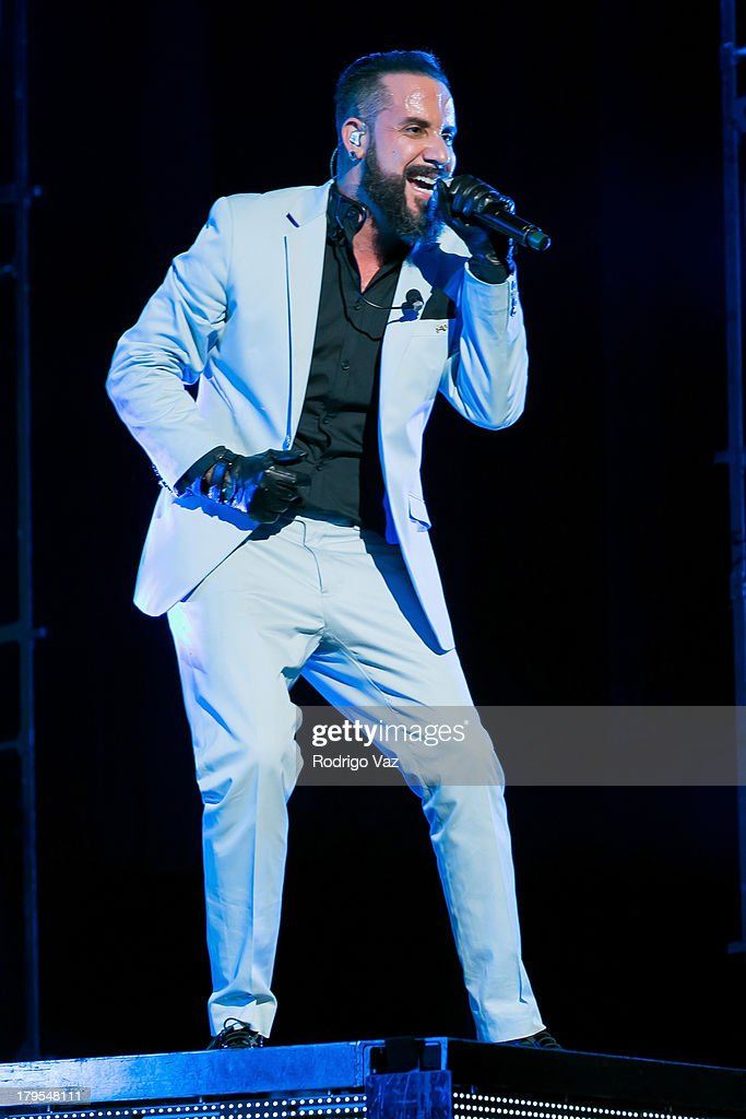 Singer AJ McLean of Backstreet Boys performs at Backstreet Boys In Concert at Gibson Amphitheatre on September 4, 2013 in Universal City, California.
