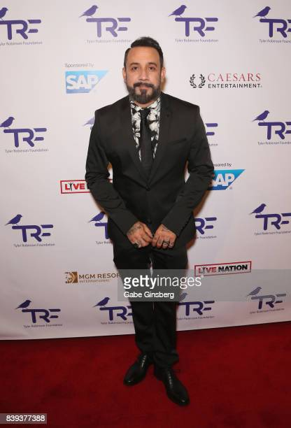 Singer AJ McLean of the Backstreet Boys attends the fourth annual Tyler Robinson Foundation gala benefiting families affected by pediatric cancer at...
