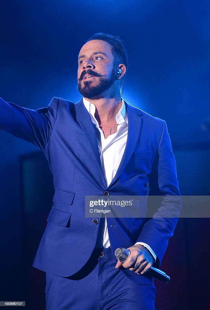 Singer AJ McLean of the Backstreet Boys performs during the 'In a World Like This' summer tour at Shoreline Amphitheatre on May 25, 2014 in Mountain View, California.
