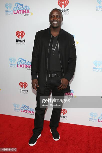 Singer Akon attends iHeartRadio Fiesta Latina presented by Sprint at American Airlines Arena on November 7 2015 in Miami Florida