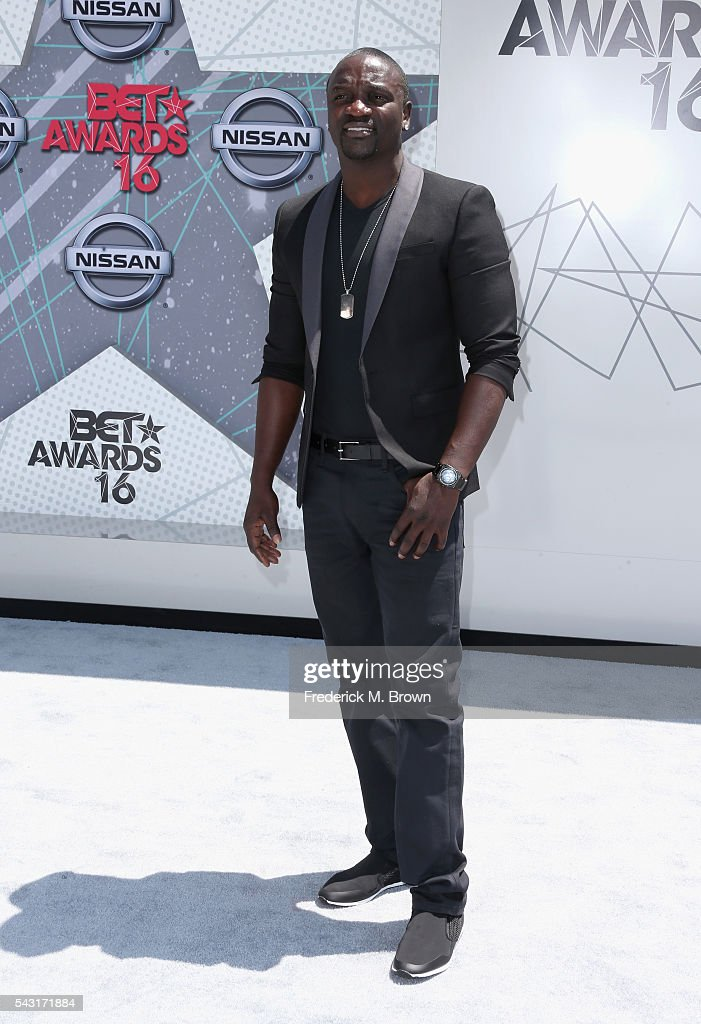 Singer <a gi-track='captionPersonalityLinkClicked' href=/galleries/search?phrase=Akon+-+Singer&family=editorial&specificpeople=2538597 ng-click='$event.stopPropagation()'>Akon</a> attends the 2016 BET Awards at the Microsoft Theater on June 26, 2016 in Los Angeles, California.