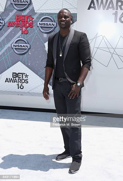 Singer Akon attends the 2016 BET Awards at the Microsoft Theater on June 26 2016 in Los Angeles California