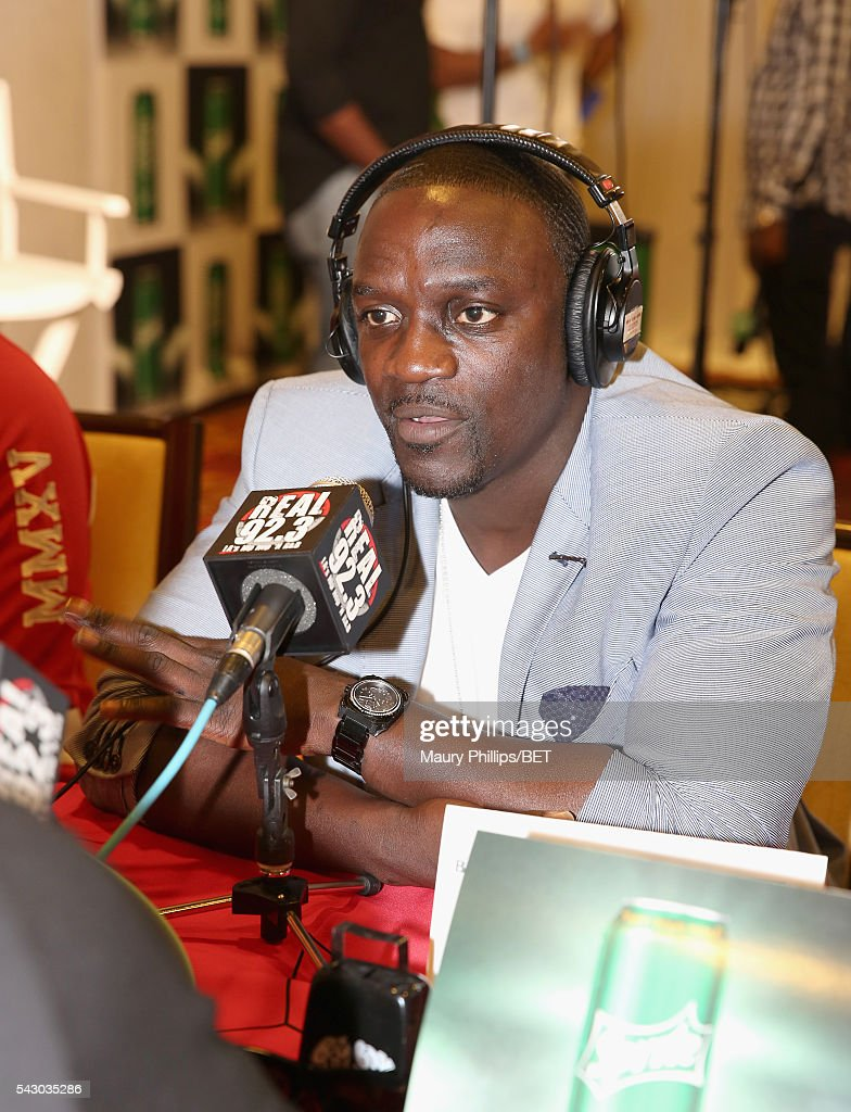 Singer <a gi-track='captionPersonalityLinkClicked' href=/galleries/search?phrase=Akon+-+Singer&family=editorial&specificpeople=2538597 ng-click='$event.stopPropagation()'>Akon</a> attends the radio broadcast center during the 2016 BET Experience at the JW Marriott Los Angeles L.A. Live on June 25, 2016 in Los Angeles, California.