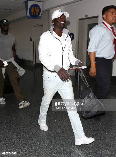 Singer Akon is seen on June 13 2017 in Los Angeles California