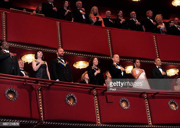 Singer Al Green ballerina Patricia McBride musician Sting actress/comedienne Lily Tomlin actor/producer Tom Hanks First Lady Michelle Obama and...