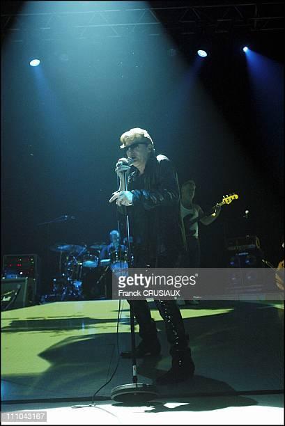Singer Alain Bashung in Concert Lille in Lille France on October 10 2003