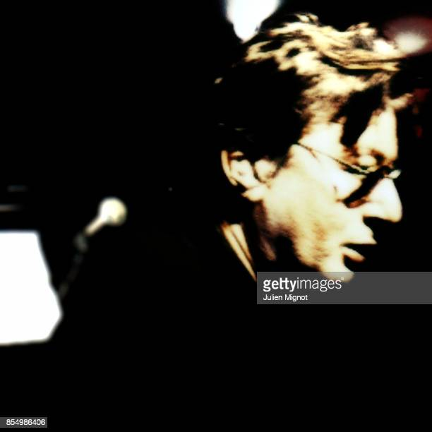 Singer Alain Bashung is photographed for Self Assignment on March 30 2007 in Paris France