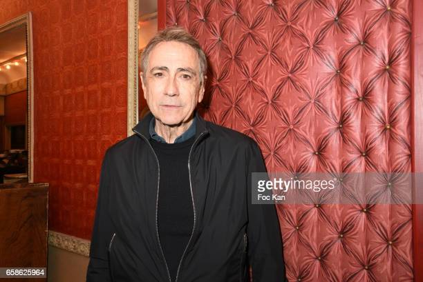 Singer Alain Chamfort attends Jean Pierre Kalfon and PIB band Concert at Theatre Dejazet on March 27 2017 in Paris France