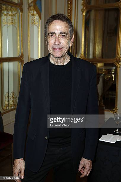 Singer Alain Chamfort attends the Ceremony of Actor Hugues Quester Actress Catherine Arditi and Manager of Theater Pascale BoeglinRodier decorated on...