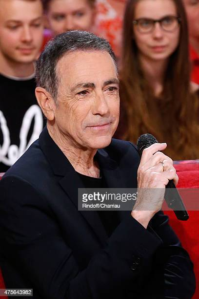 Singer Alain Chamfort presents his new Album 'Alain Chamfort' during the 'Vivement Dimanche' French TV Show at Pavillon Gabriel on June 2 2015 in...