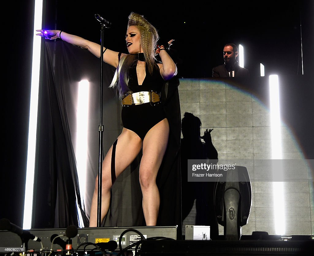 Singer Alana Watson of Nero performs onstage during day 1 of the 2015 Coachella Valley Music & Arts Festival (Weekend 1) at the Empire Polo Club on April 10, 2015 in Indio, California.