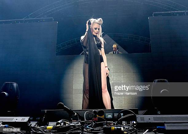 Singer Alana Watson of Nero performs onstage during day 1 of the 2015 Coachella Valley Music Arts Festival at the Empire Polo Club on April 10 2015...