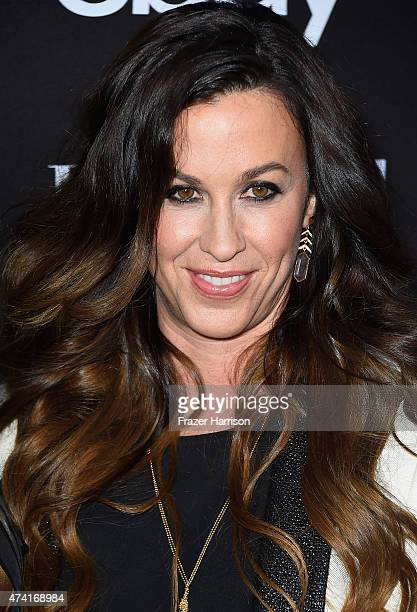 Singer Alanis Morissette arrives at the 6th Annual ELLE Women In Music Celebration Presented By eBayat Boulevard3 on May 20 2015 in Hollywood...