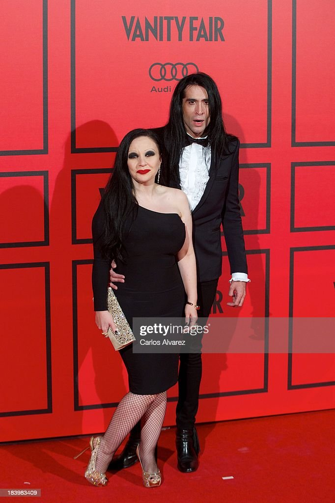 Singer Alaska and her husband <a gi-track='captionPersonalityLinkClicked' href=/galleries/search?phrase=Mario+Vaquerizo&family=editorial&specificpeople=805306 ng-click='$event.stopPropagation()'>Mario Vaquerizo</a> attend the Vanity Fair 5th anniversary paty at the Santa Coloma Palace on October 10, 2013 in Madrid, Spain.