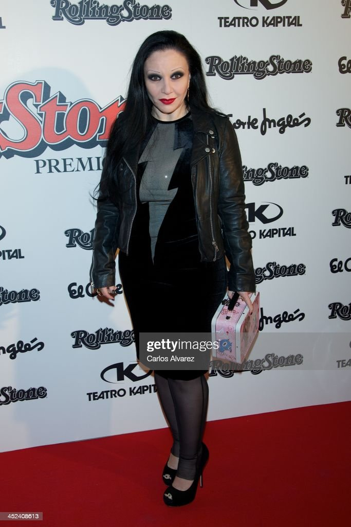 Singer Alaska attends the Rolling Stone Magazine Awards 2013 at the Kapital Club on November 28, 2013 in Madrid, Spain.