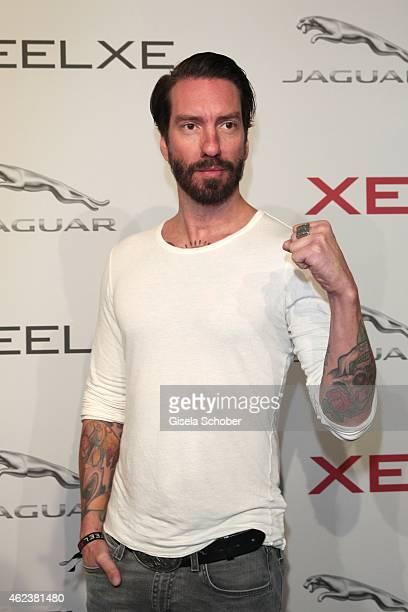 Singer Alec Voelkel aka Boss Burns attends the JAGUAR XE presentation at Umspannwerk on January 27 2015 in Berlin Germany