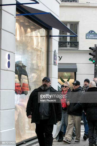 Singer Alecia Moore aka 'Pink' and husband Carey Hart arrive at the 'Colette' store on Rue du Faubourg Saint Honore on December 6 2017 in Paris France