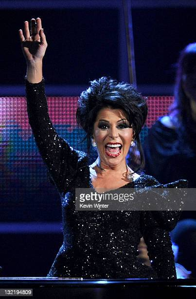 Singer Alejandra Guzman performs onstage during the 12th annual Latin GRAMMY Awards at the Mandalay Bay Events Center on November 10 2011 in Las...