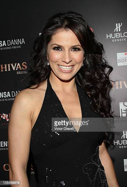 Singer Alessandra Rosaldo attends the Cantando Por Veracruz benefit concert at Voila Antara on October 18 2010 in Mexico City Mexico