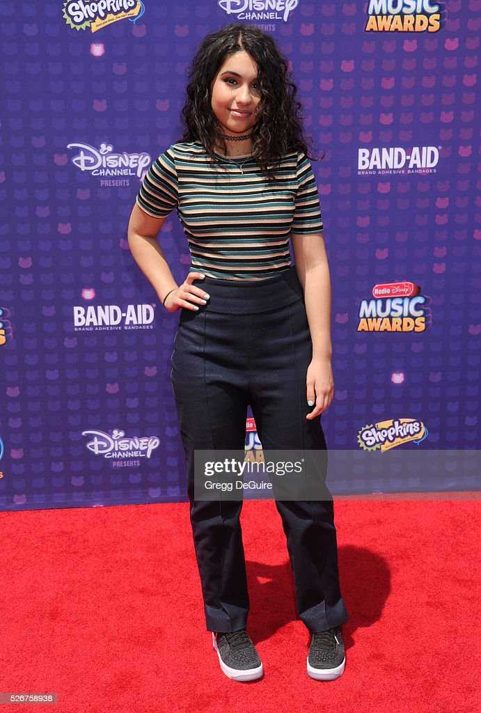 Singer Alessia Cara arrives at the 2016 Radio Disney Music Awards at Microsoft Theater on April 30, 2016 in Los Angeles, California.