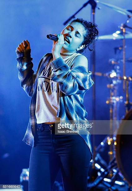 Singer Alessia Cara performs onstage during CBS RADIO's SPF at The Boulevard Pool at The Cosmopolitan of Las Vegas on May 15 2016 in Las Vegas Nevada