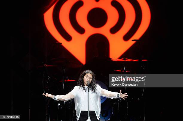 Singer Alessia Cara performs onstage during the 1027 KIIS FM's Jingle Ball 2016 at Staples Center on December 2 2016 in Los Angeles California